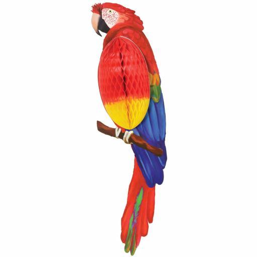 Hawaiian Honeycomb Parrot Decoration