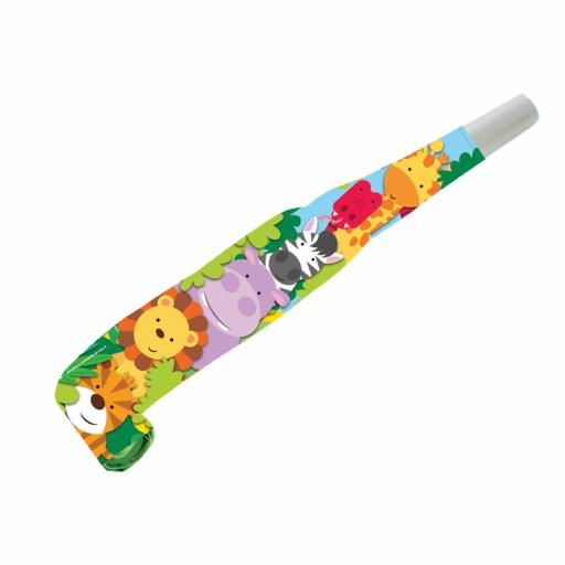 Jungle Friends Noisemaker Blowouts 8pcs