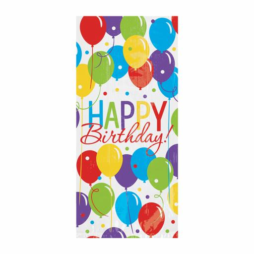 Brilliant Balloon Happy Birthday Plastic Party Bags Pack of 50 with twist ties