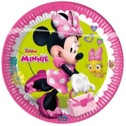 Minnie Mouse Paper Party plates 23cm 8ct