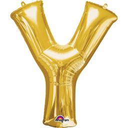"Letter Y Supershape Gold Foil Balloon 34""/""86cm"