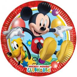 Mickey Mouse Clubhouse Paper Party Plates 8ct 19.5cm
