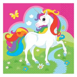 Unicorn Luncheon Napkins 33cm 2ply 20pcs