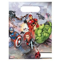 Avangers Plastic Party Bags 6ct