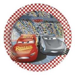 Disney Cars Paper Plates 20cm 8ct