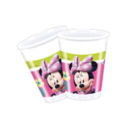 Minnie Mouse Plastic Party Cups 200ml 8per pack