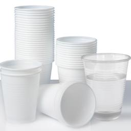 White Plastic Disposable Cups 200ml