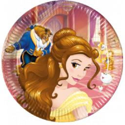 Beauty & The Beast Disney Princess Paper Party Plates 23xm 8pcs