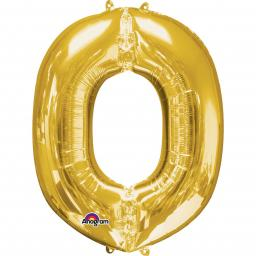 "Letter O Supershape Gold Foil Balloon 34""/""86cm"