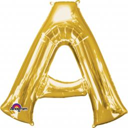 "Letter A Supershape Gold Foil Balloon 34""/""86cm"