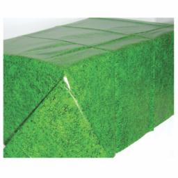 Tee Time All over Grass Printed Green Plastic Tablecover 54x102 inch