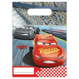 Disney Cars Plastic Party Bags 6ct