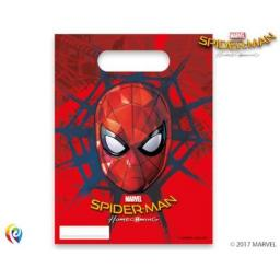 Spider-Man Homecoming Plastic Party Bags Pack of 6