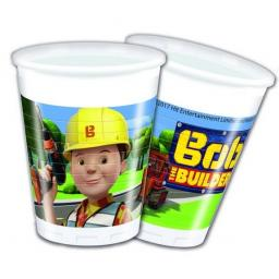 Bob The Builder Plastic Party Cups 200ml 8ct