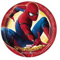 Spider-Man Homecoming Paper Party Plates 23cm pack of 8