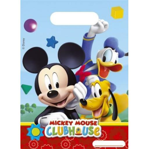 MIckey Mouse Clubhouse Plastic Party Bags pack of 6