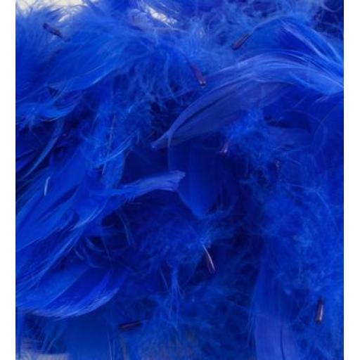 Eleganza Feathers Mixed sizes 3inch-5inch 50g bag Royal Blue No.18