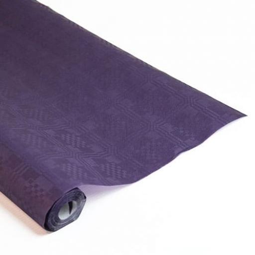 Damask Banqueting Roll Purple Paper 118 x 7m