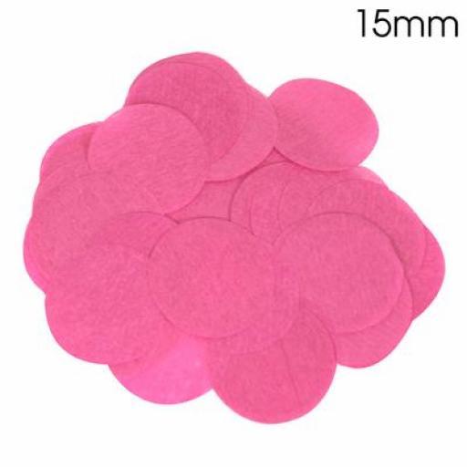 Tissue Paper Bio-degradable, Flame retardant Fuchsia Confetti 14g 15mm