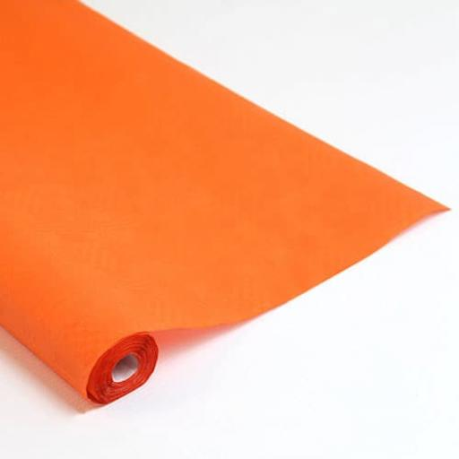 Damask Banqueting Roll 118 x 7m Orange Paper
