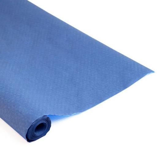 Damask Banqueting Roll Dark Blue 25m x 118cm Paper