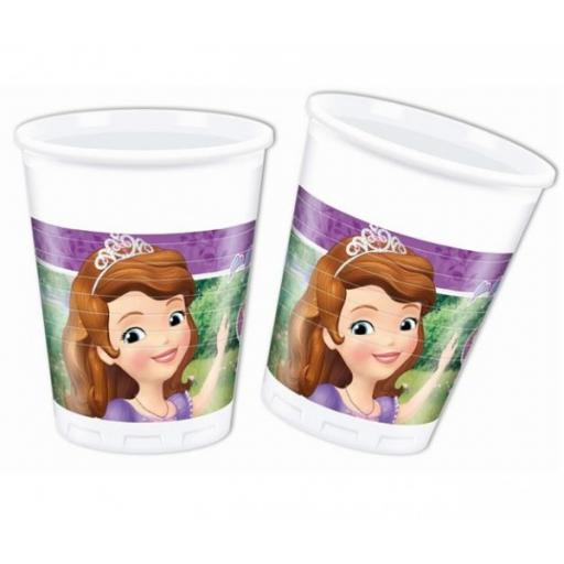 Sofia The First Plastic Party Cups 8pcs 200ml