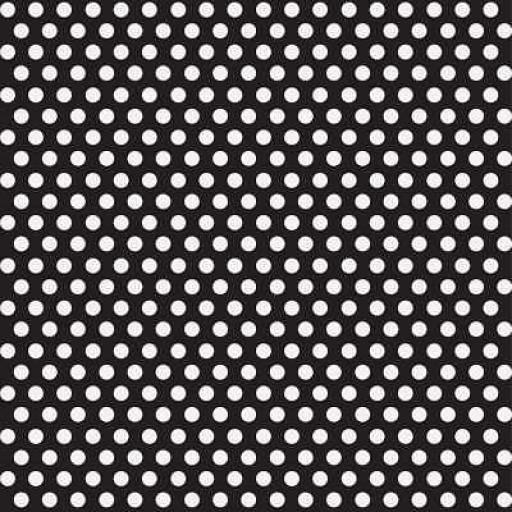 Black Polka Dot Wrapping Paper 76.2cm x 152cm