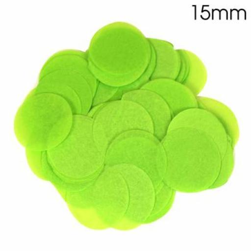 Tissue Paper Bio-degradable, Flame retardant Lime Green Confetti 14g 15mm