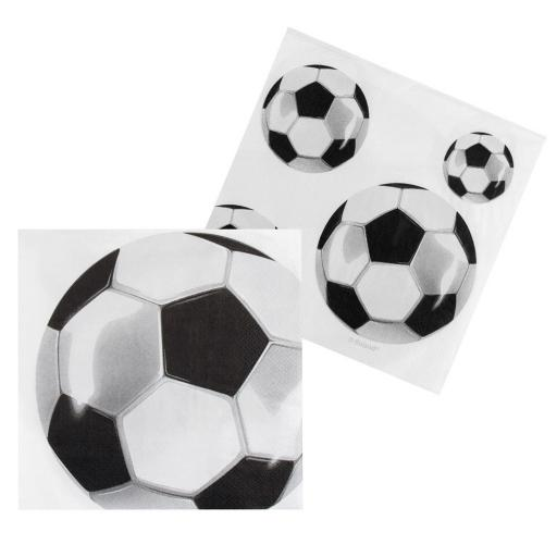 White Football Paper Napkins 12pcs 33cm 2ply
