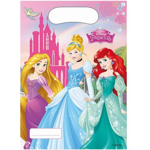 Disney Princesses Plastic Party Bags pack of 6