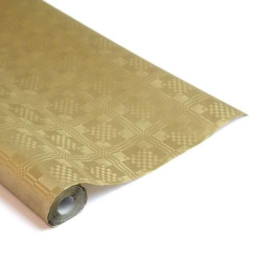 Damask Banqueting Roll Gold 25m x 118cm Paper