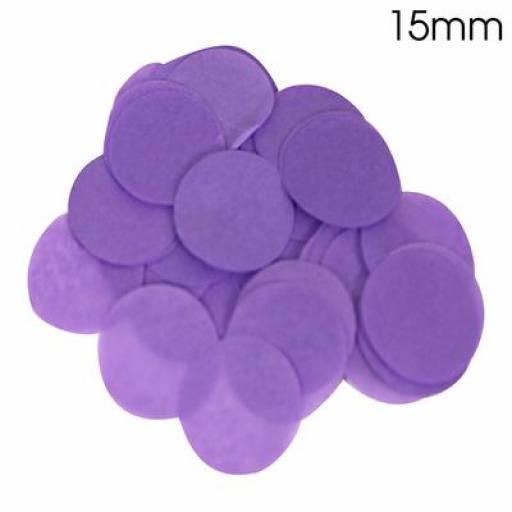Tissue Paper Bio-degradable, Flame retardant Purple Confetti 14g 15mm
