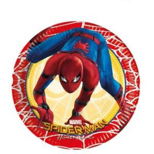 Spider-Man Homecoming Paper Plates 8ct 20m