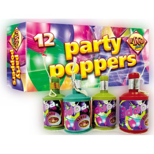 12ct Party Poppers
