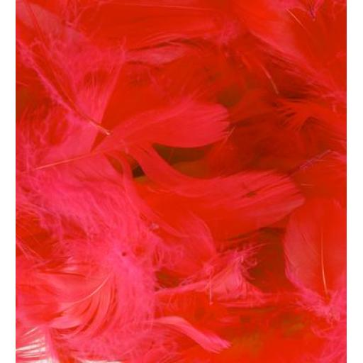 Eleganza Feathers Mixed sizes 3inch-5inch 50g bag Red No.16