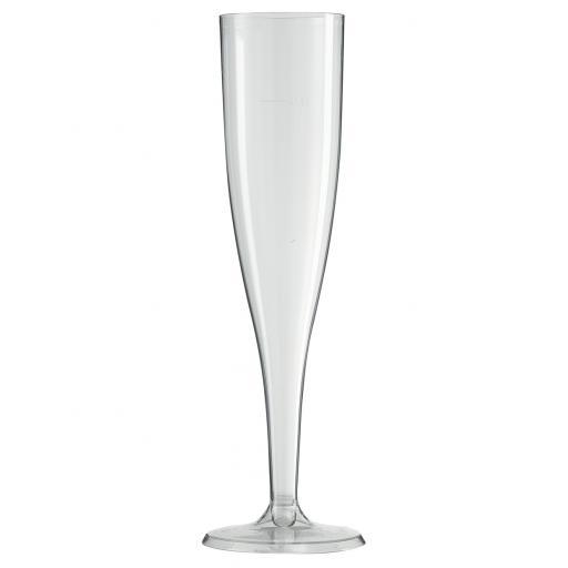 Stemed Plastic Champagne Flutes 10pcs 5.5oz