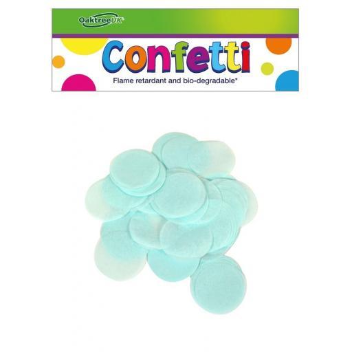 Tissue Paper Bio-degradable, Flame Retardant Powder Blue Confetti 100g 25mm