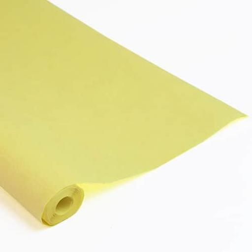 Damask Banqueting Roll 118 x 7m Yellow Paper