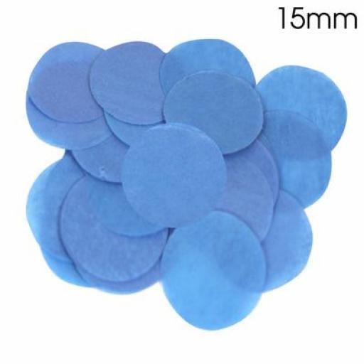 Tissue Paper Bio-degradable, Flame retardant Royal Blue Confetti 14g 15mm