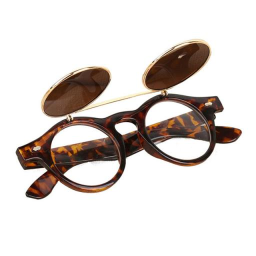 Womens Steampunk Flip-Up Sunglasses Vintage
