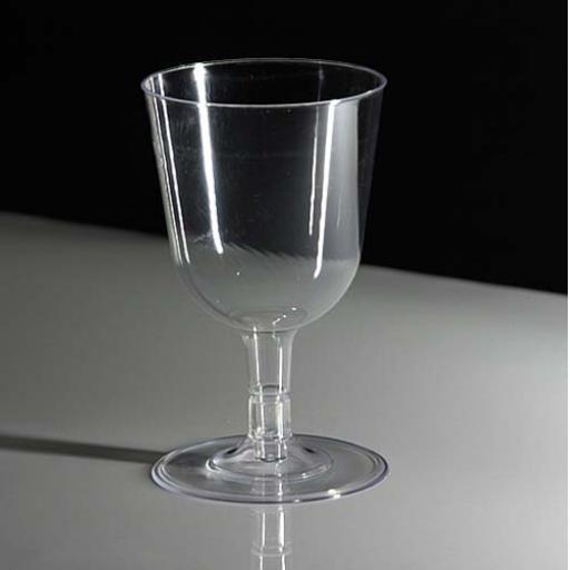 Heavy Duty Hemmed Plastic Wine Glasses 175ml 24pcs