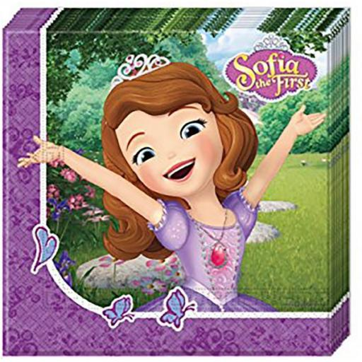 Sofia The First Paper Napkins 20ct 33x33cm 2ply
