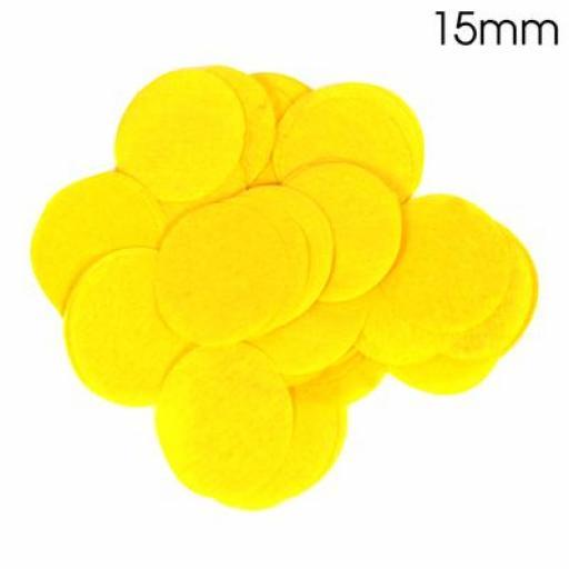 Yellow Confetti 14g 15mmTissue Paper Bio-degradable, Flame retardant