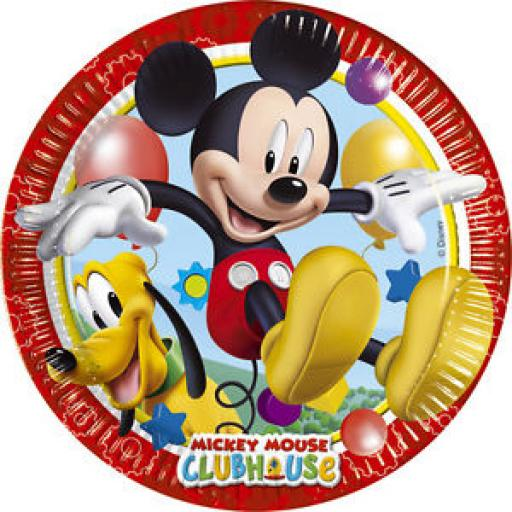 Mickey Mouse Clubhouse paper Party Plates 23cm 8per pack