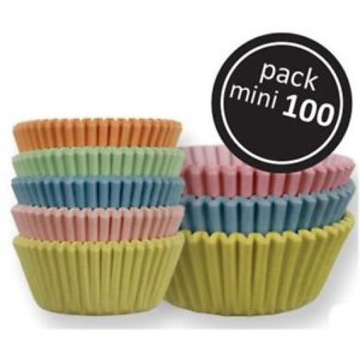 Pastel Mini Baking Cases 100pcs