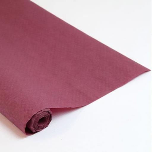 Damask Banqueting Roll 118 x 7m Roll Burgundy Paper