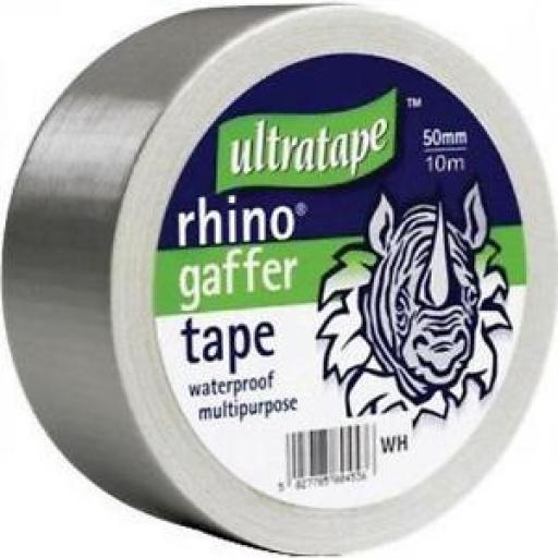 Gaffer Ultra Tape 10m x 50mm Grey