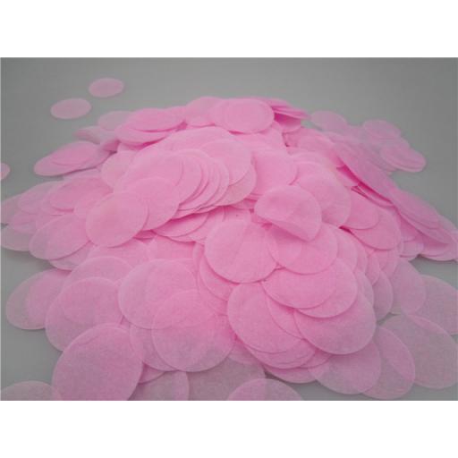Tissue Paper Bio-degradable, Flame retardant Pink Confetti 100g 25mm