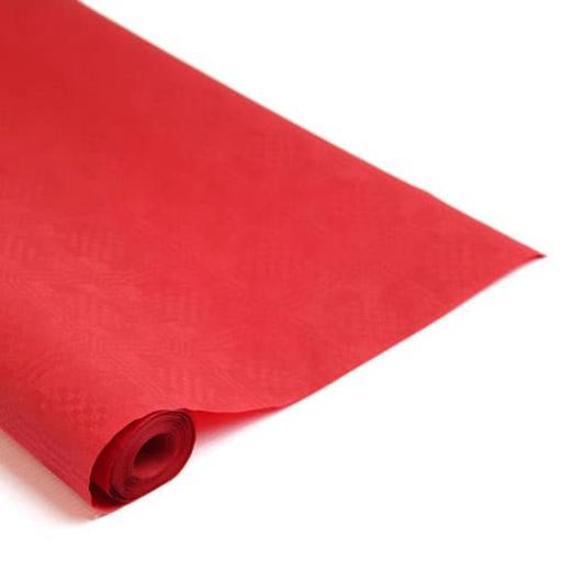 Damask Banqueting Roll Poppy Red Paper 118 x 7m