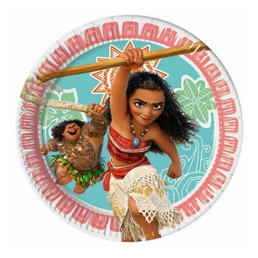 Moana Paper Party Plates 20cm Pack of 8